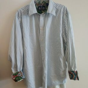 R&G Button Down with Paisley Cuffs